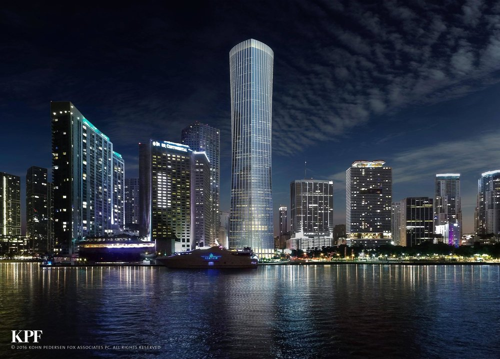 Florida East Coast Realty On Track To Begin Construction On KPF-Designed Supertall One Bayfront Plaza In Early 2019