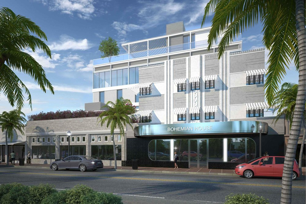A New Hotel Dubbed Bohemian House Has Been Proposed On Washington Avenue In South Beach