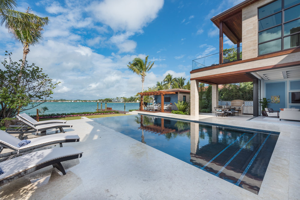 6010 N Bay Rd Miami Beach FL-Walk Through A Lavish, Contemporary Bayfront Mansion Which Just Listed for $18.950 Million