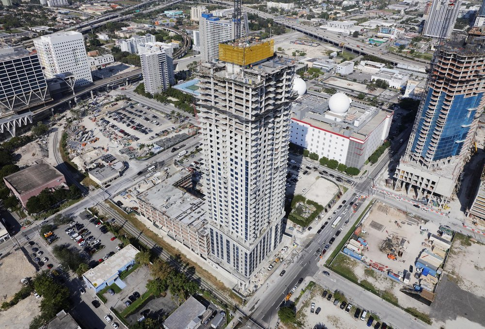 CAOBA Becomes The First Tower To Top-Off In Downtown Miami's Miami Worldcenter Mega-Project