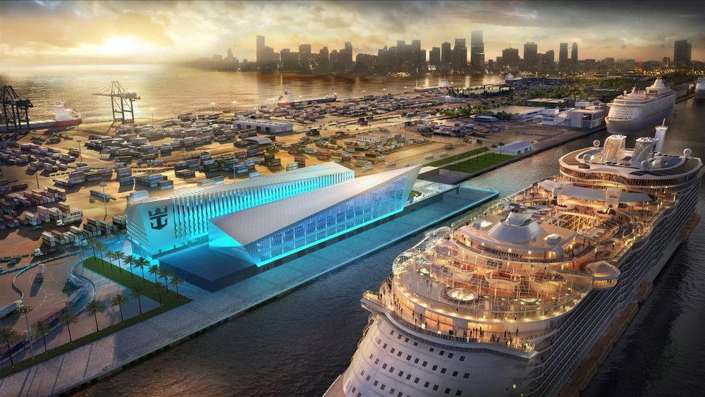 Royal Caribbean's Crown of Miami Terminal Designed by Broadway Malyan Tops Out in PortMiami