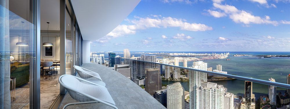 Construction at CMC Group's Brickell Flatiron Passes The 29th Floor As The First Glass Installed