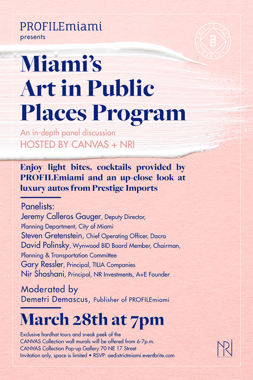 PROFILEmiami Presents Miami's Art in Public Places Program | March 28 @ 7 PM