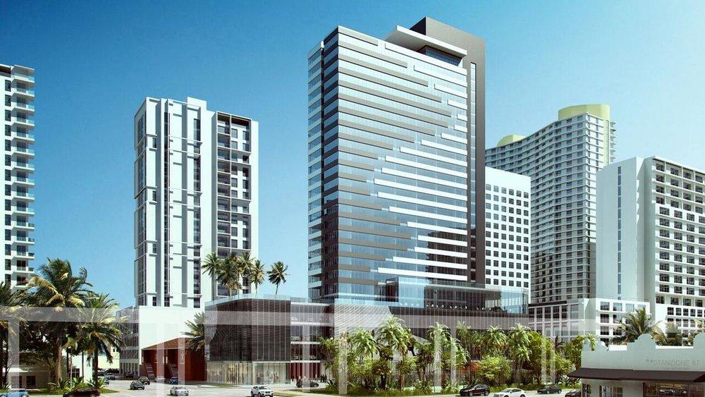 Retail Preleasing Now Underway For C-F Brickell's Millennial Driven Hotel Replacing Brickell's El Eden Motel