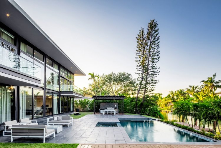 Tour This Contemporary Waterfront Estate Just Steps From Miami
