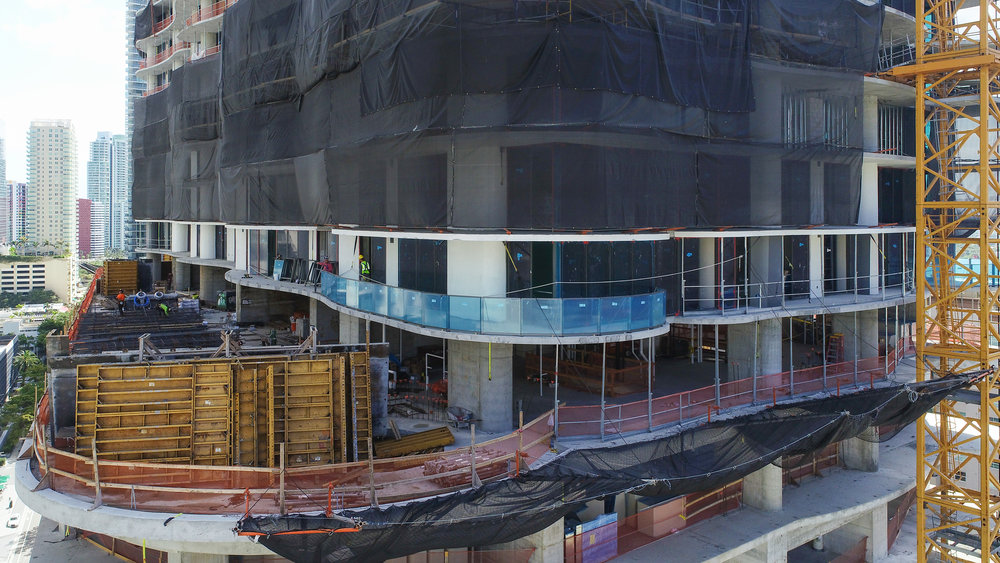 Construction On Ugo Colombo's Brickell Flatiron Passes The Halfway Mark, Powering Towards 736'