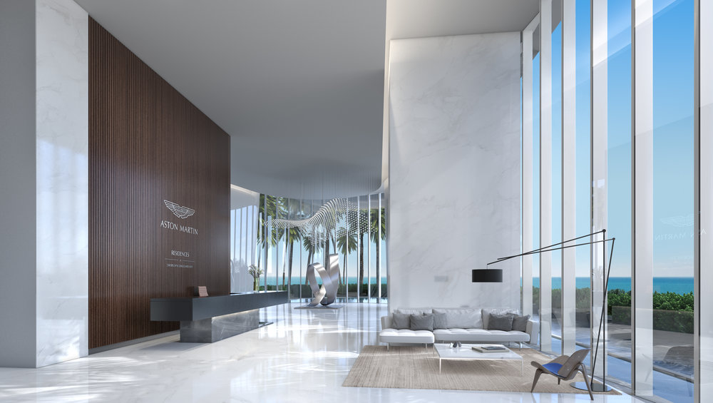 Take A First Look Inside The Hyper-Luxe Aston Martin Residences Interior & Amenity Spaces