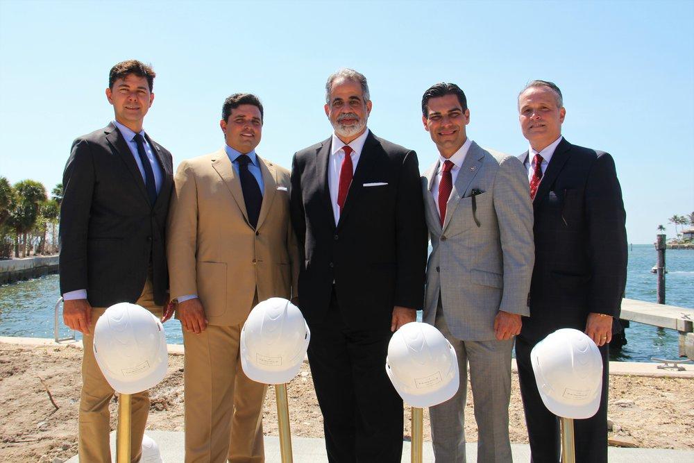 Commissioner Ken Russell, Ricardo Vadia, Ralph Gonzalez-Jacobo, Mayor Francis Suarez, Oscar Rodriguez