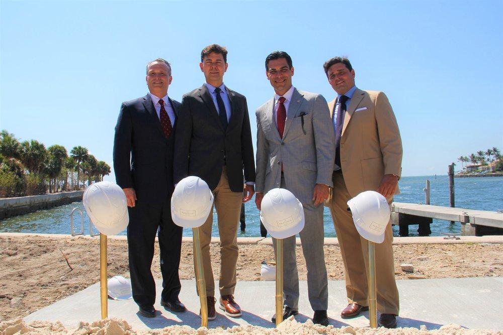 Oscar Rodriguez, Commissioner Ken Russell, Mayor Francis Suarez, Ricardo Vadia