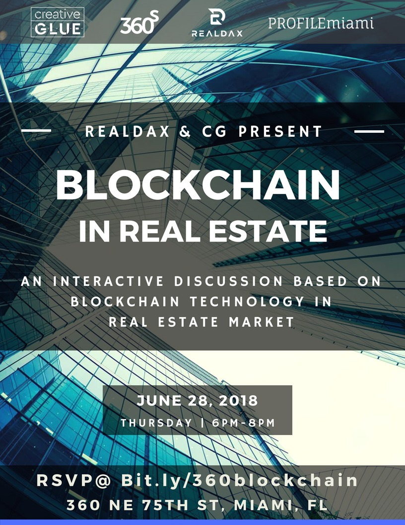 PROFILEmiami Presents Blockchain in Real Estate On June 28 6-8 PM In Little River