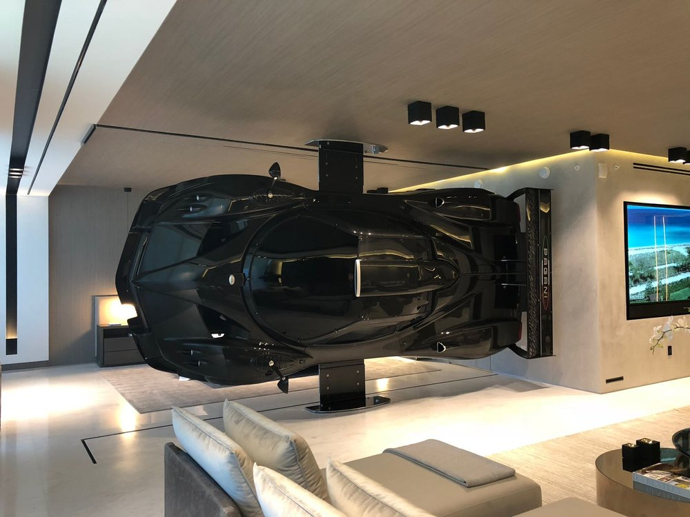 Nothing Compares To This Artefacto-Designed Oceanfront Condo With A Wall Mounted Pagani Zonda R