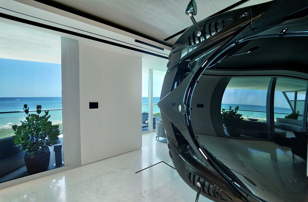 Nothing Compares To This Artefacto-Designed Oceanfront Condo With A Wall Mounted $1.5 Million Pagani Zonda R