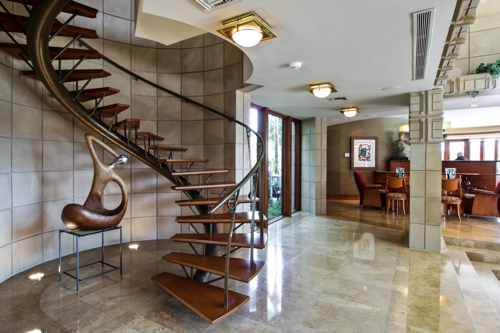 Leading Architect Derek & Lisa Vander Ploeg List Their Frank Lloyd Wright Inspired Boca Raton Estate