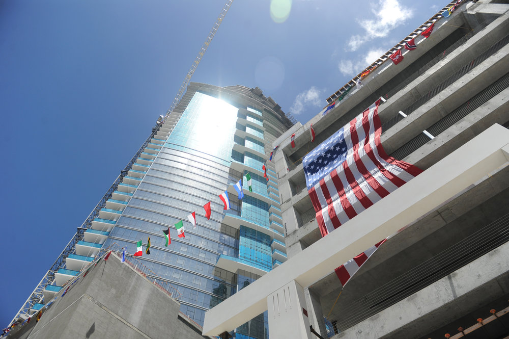 50 International Flags Fly Atop PARAMOUNT Miami Worldcenter Representing its Global Buyer Pool PARAMOUNT Miami Worldcenter Tops Off In Downtown Miami With Over $400 Million In Sales