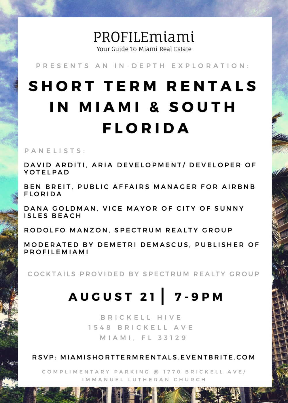 PROFILEmiami Presents An In-Depth Exploration Into Short Term Rentals In Miami & South Florida