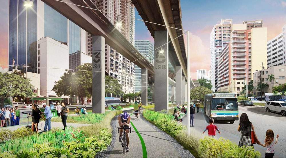 Miami-Dade Commissioners Vote To Award $14.3 Million Construction Contract For Underline's Brickell Backyard
