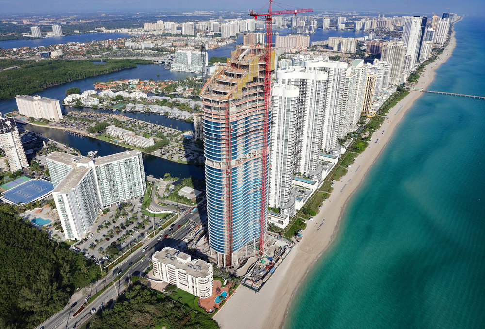 The Ritz-Carlton Residences, Sunny Isles Beach Officially Tops Off Targeting Delivery In 2019