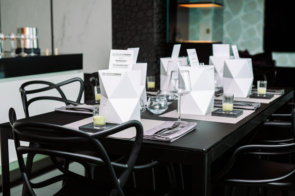 Inside One Thousand Museum By Zaha Hadid Architects's Culinary Concept Preview For The Tower's Ultra-Exclusive Sky Lounge