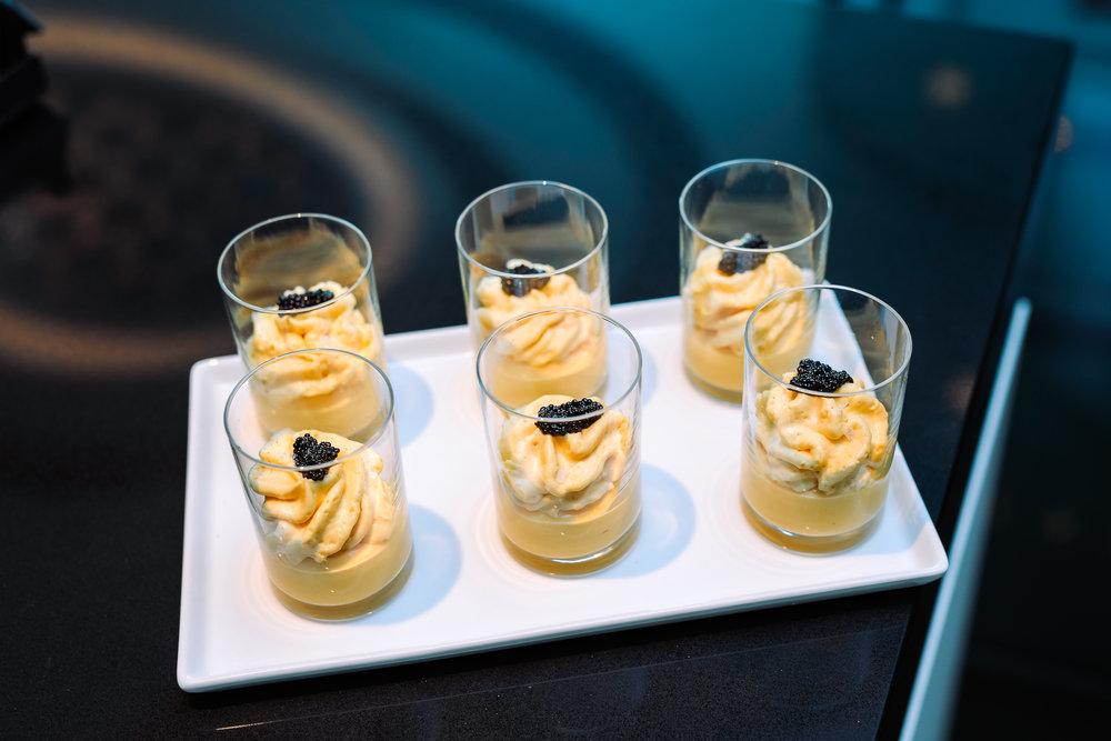 Butternut Squash Soup - Osetra Caviar, Butternut Squash Espuma