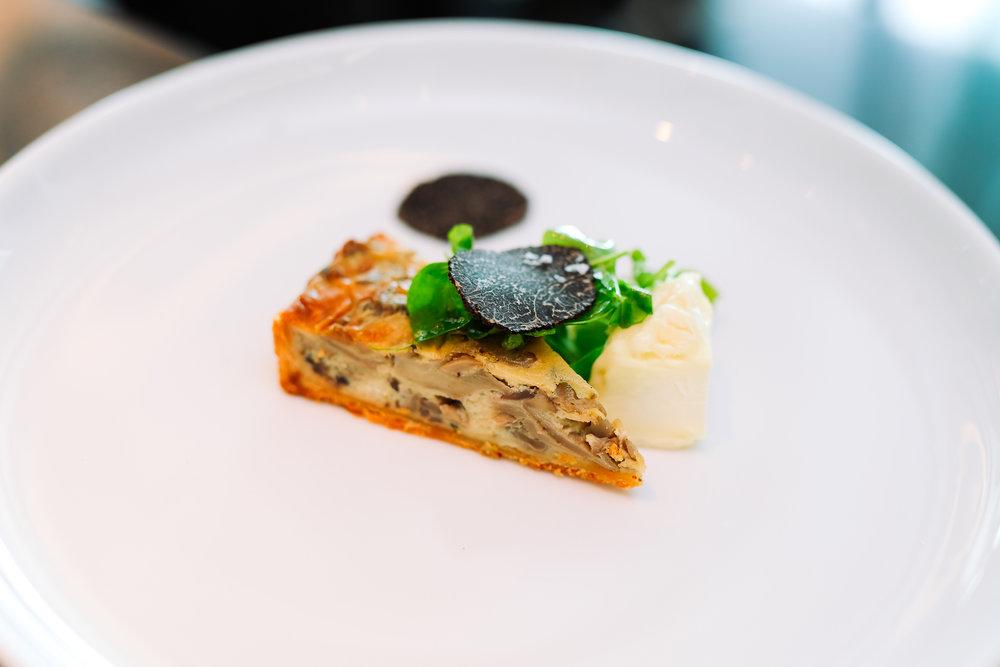 Goat Cheese Mushroom Tart With Arugula Salad