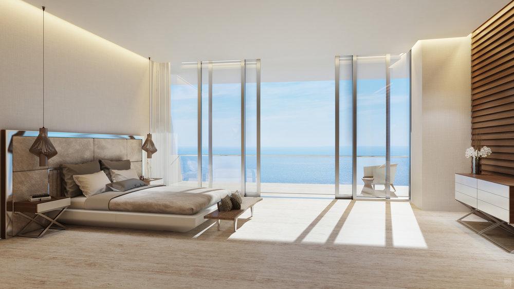 Unit D - Master Bedroom