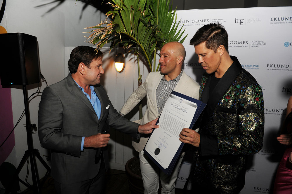 Michael Gongora, John Gomes, Fredrik Eklund Speaking Bravo's Million Dollar Listing Star Fredrik Eklund & John Gomes Launch Miami Team With Douglas Elliman