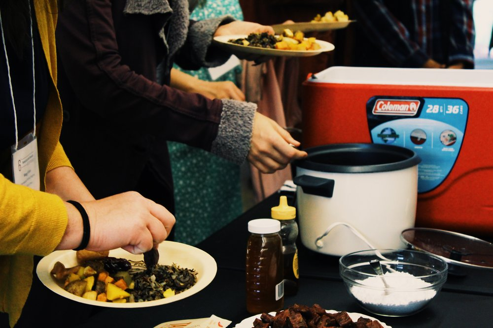 feast food Iowa city participatory art