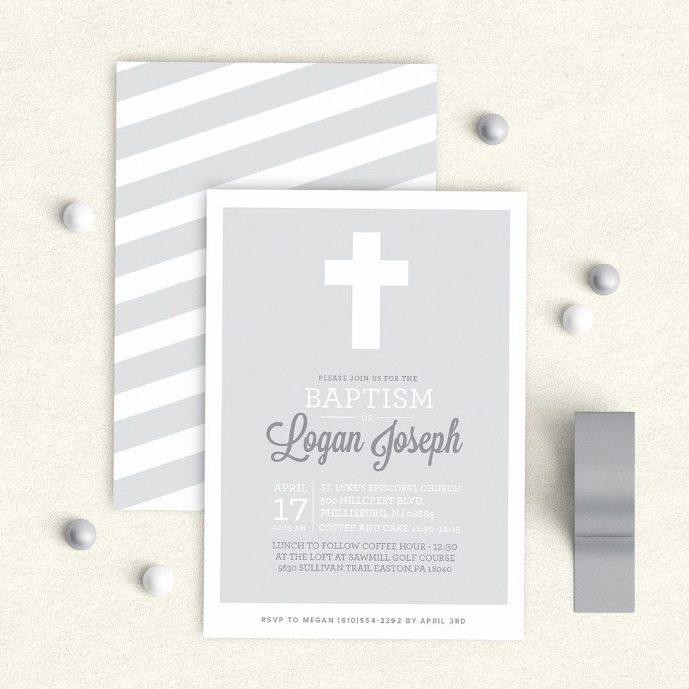 Baptism Invitation Boy