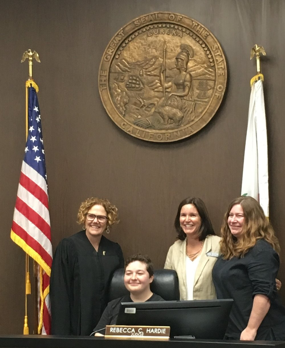 Judge Rebecca Hardie makes Ryan's adoption official!