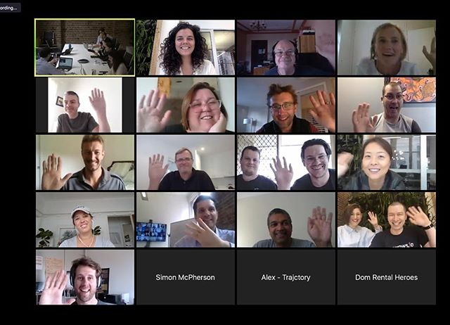 Brady Bunch on steroids?  Loving my new work family that's come with the @bluechilligroup #stocklandstartups  We spend 3 hours p/w like this because we are from all parts of Australia and catch up in person once per month.  Building your own business can feel surprisingly isolating - this definitely makes it less so. See you all next week!