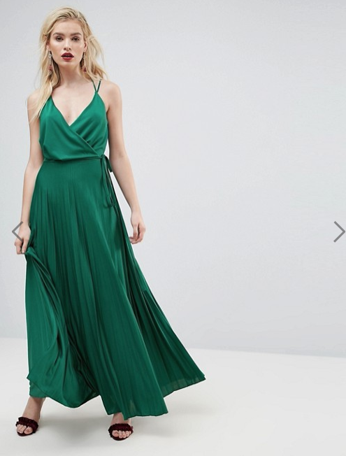ASOS - GREEN WRAP DRESS