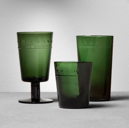 Green Goblet & Tumblers