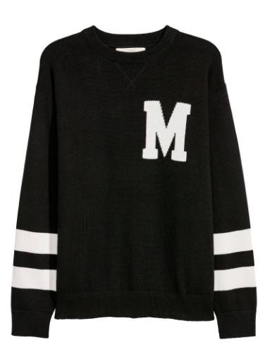 H&M Black & White Striped Sweater