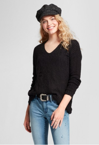 Deconstructed Pullover Sweater (similar)
