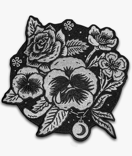 Delicate Flower Black Patch