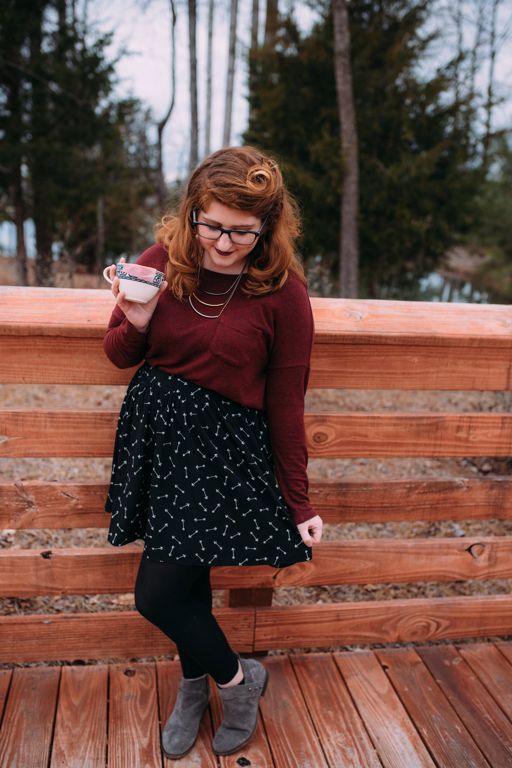 valentine's outfit - fashion blogger - wardrobe wednesday