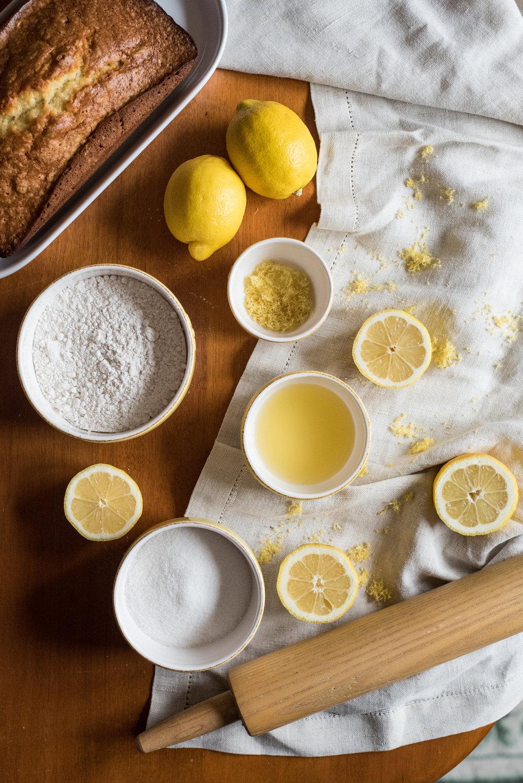 lemon pound cake - food photographer - food blog