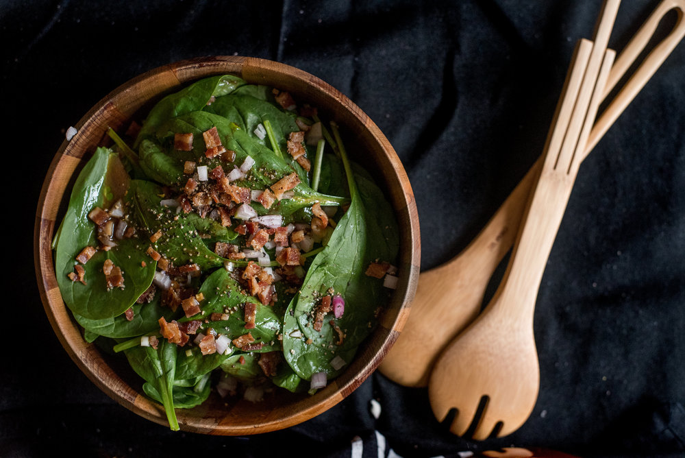 spinach salad - food blogger - food photographer -