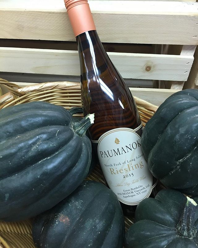 Come by today for a rainy day wine tasting at the Amagansett Wine Stand and sample our selection of Local wines, including this @paumanokvineyards Riesling from the North Fork of Long Island. Open 12-7pm at 367 Main Street, Amagansett (Open Columbus Day).