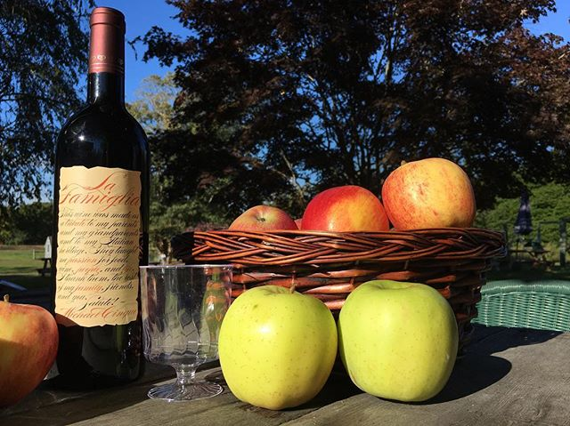 An apple a day. Come visit us this weekend at the Amagansett Wine Stand to taste some of our favorite local wines and other local delicacies from the @amagansettfarmersmarket Open Saturday and Sunday 12-7pm at 367 Main Street, Amagansett.