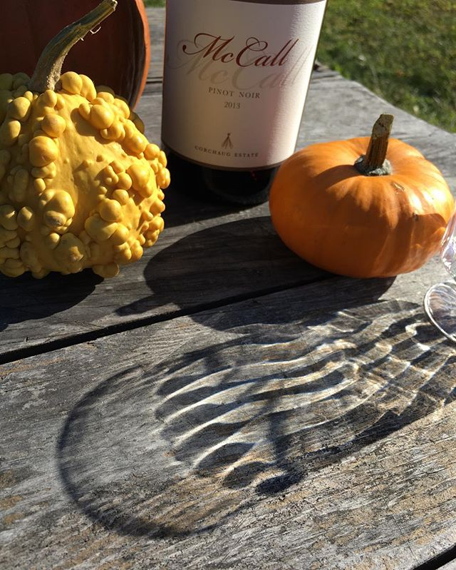 Stop by today for a taste, glass or bottle of our favorite local wines at the Amagansett Wine Stand, like this Pinot Noir from our friends at @mccallwines in Cutchogue, think dark cherry with aromas of strawberry and spices. Open 12-7pm today at 367 Main Street, Amagansett.