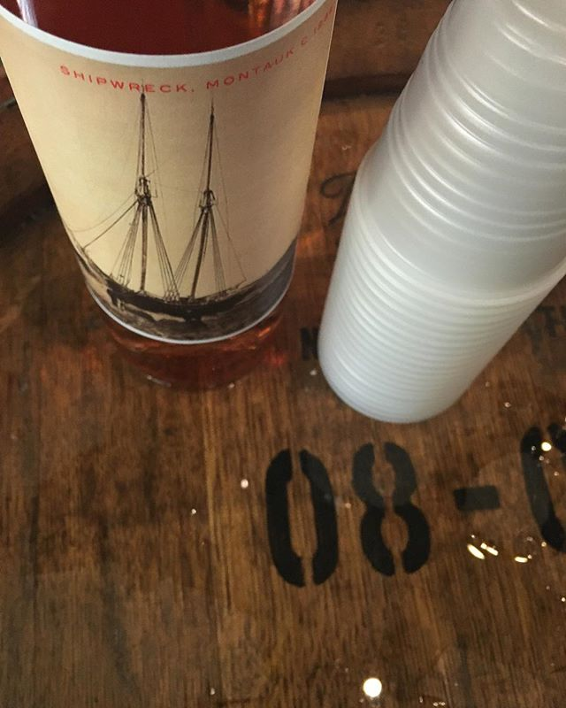 New location to come! In the meantime our Summer 2017 Rosé featuring local grapes and local history available at Amagansett Wine & Spirits. Pictured on the label is the Lewis King shipwreck that came ashore in a fog on Montauk Point in July 1888.