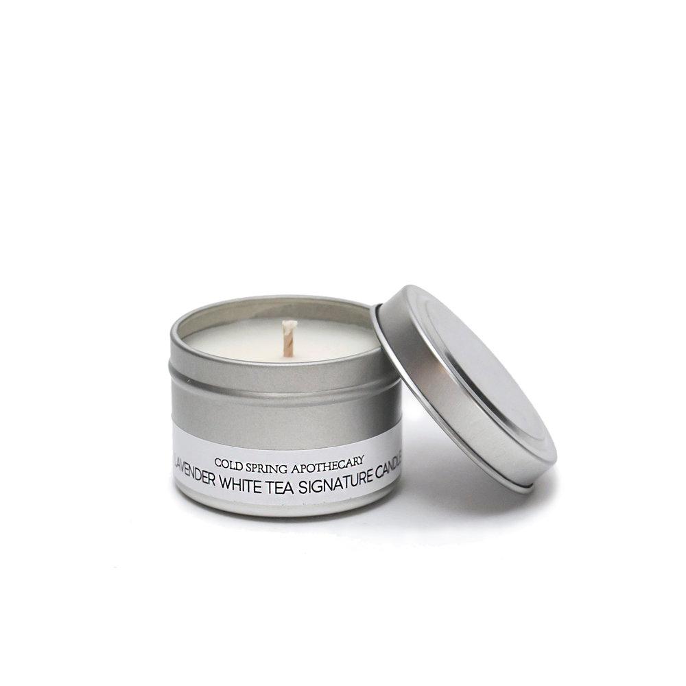 アロマトラベルキャンドル ラベンダーホワイトティー ちび Travel Candle  Lavender White Tea CHIBI  1,400円 +税