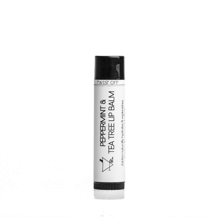 リップバーム ペパーミント&ティーツリー  Peppermint & Tea Tree Lip Balm  1,380円 +税