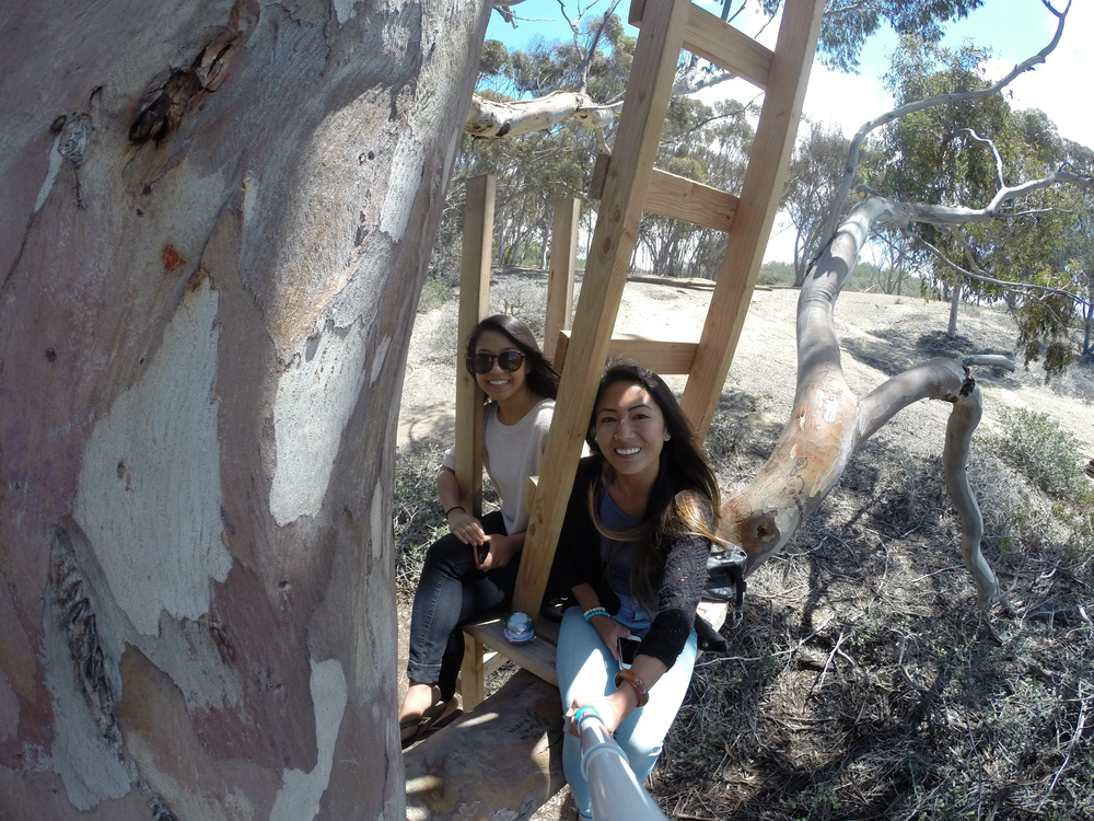Me and Vanessa in the La Jolla Treehouse
