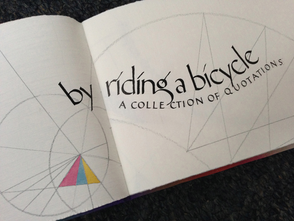 Tim Botts, By Riding a Bicycle