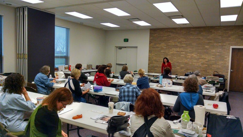 CCC members at gilding workshop