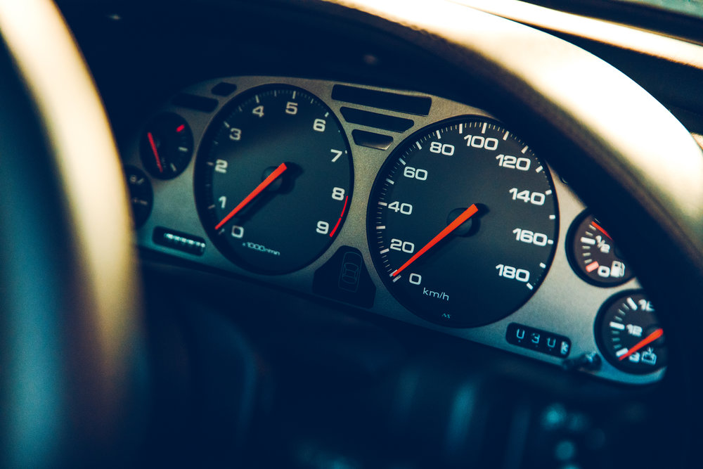 Beautifully clear dials of early NSX