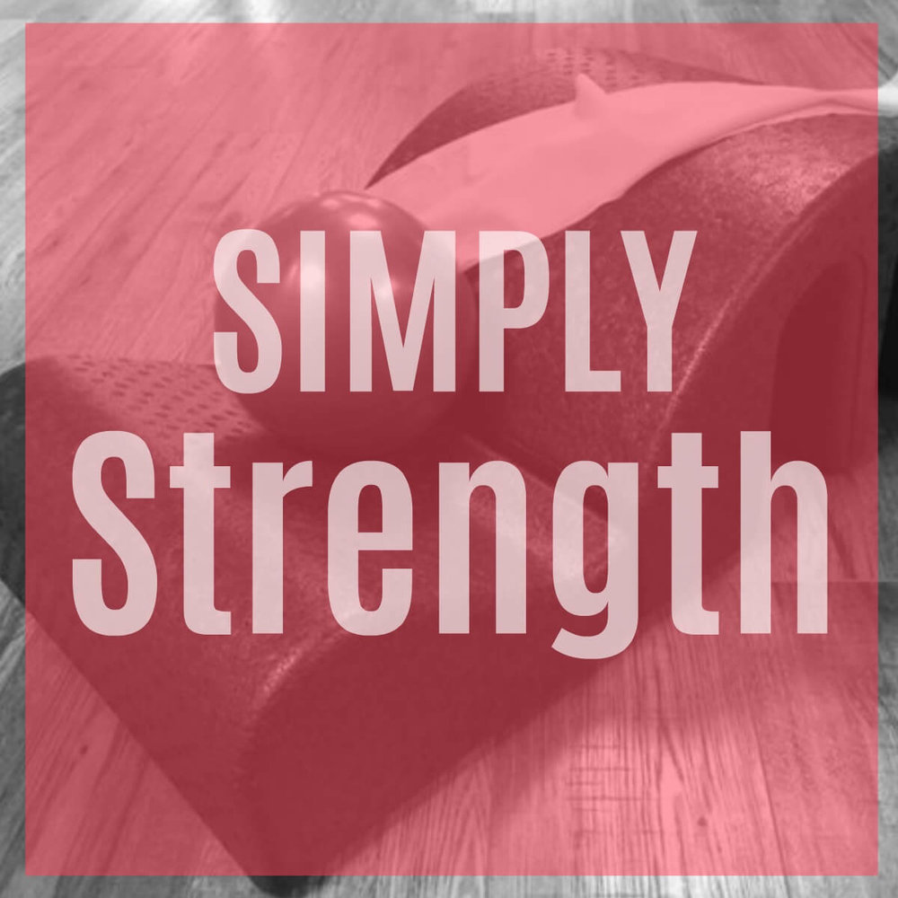 Simply Strength - (Level 1)A challenging class utilizing the Pilates Arc, Mat moves and Reformer to attain quick gains in strength. Work on strength, balance and control. This class is safe for all levels. Class is 50 minutes.