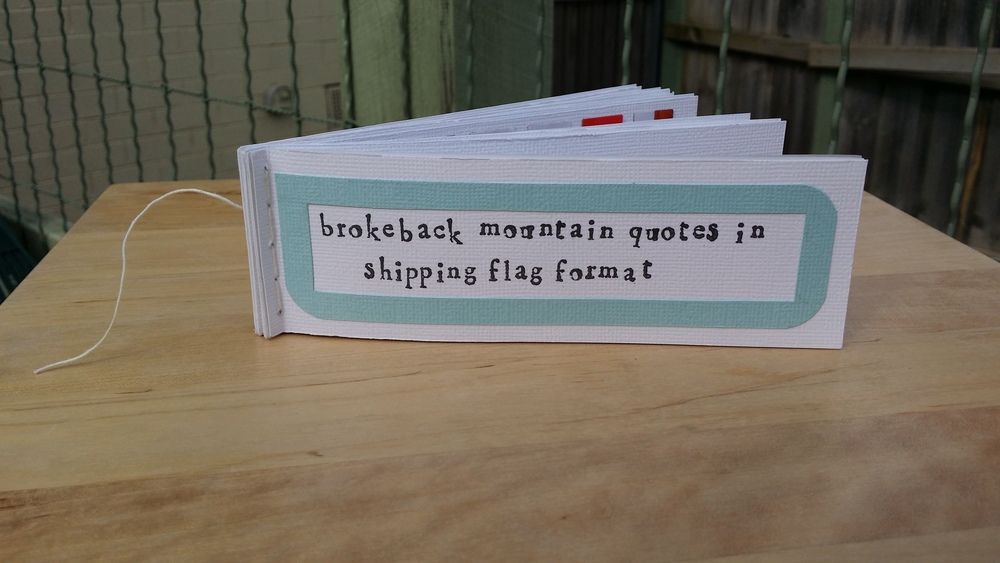 Brokeback Mountain in Shipping Flag Format